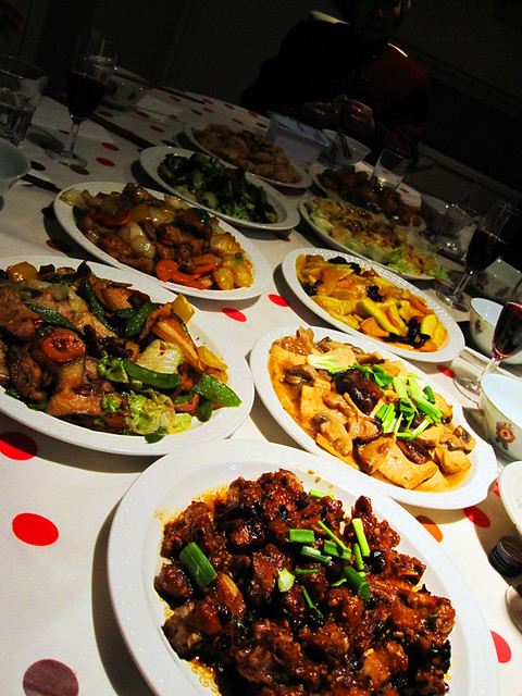 tasty chinese food | christmas dinner, asian style
