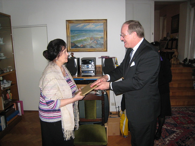 Ambassador Polt visits with President Rüütel and Mrs. Ingrid Rüütel, February 22, 2011.