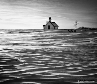 Little Church on the Prairie (B&W version)