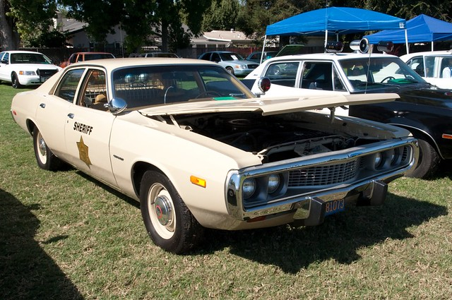 monterey sheriff 1973 dodge coronet hood flickr photo. Black Bedroom Furniture Sets. Home Design Ideas