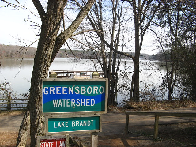 Greensboro Watershed sign at Lake Brandt
