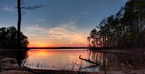 trees light sunset panorama sun sunlight lake water silhouette canon golden nc northcarolina denise goldenhour chathamcounty jordanlake worden 450d deniseworden