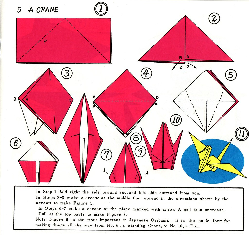 Make a paper crane a photo on flickriver for How yo make a paper crane