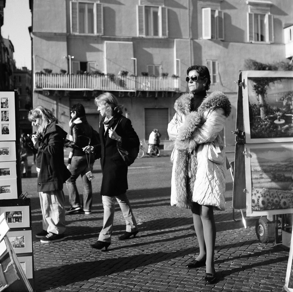 "Image titled ""Woman wearing sunglasses, Rome."""