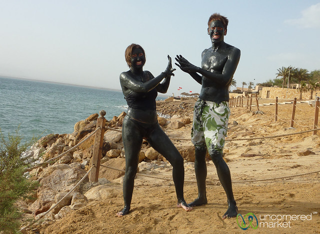 All Mudded Up at the Dead Sea, Jordan