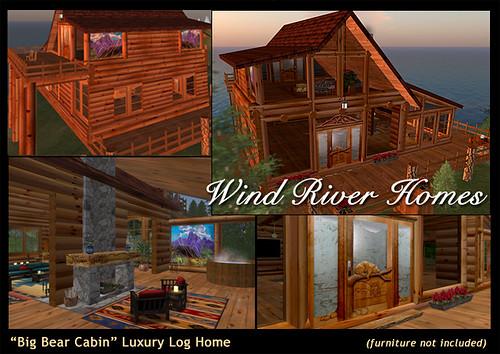 Wind river homes furniture big bear cabin luxury log home for Big bear luxury cabin