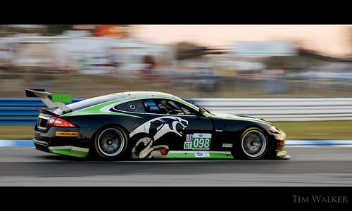 light sunset sun motion blur race nikon florida racing 98 international mans le american series hours fl jaguar 12 sebring gt endurance panning lemans raceway alms xkr 2011 rsr 12hoursofsebring d7000