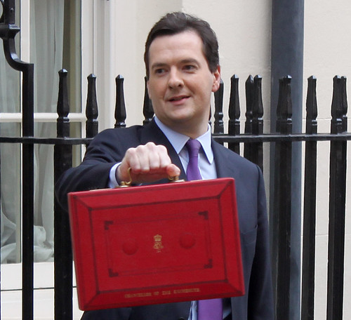 Chancellor George Osborne outside No.11 Downing Street on Budget Day