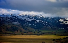 Clouds And Snow Over Calaveras Range (3)