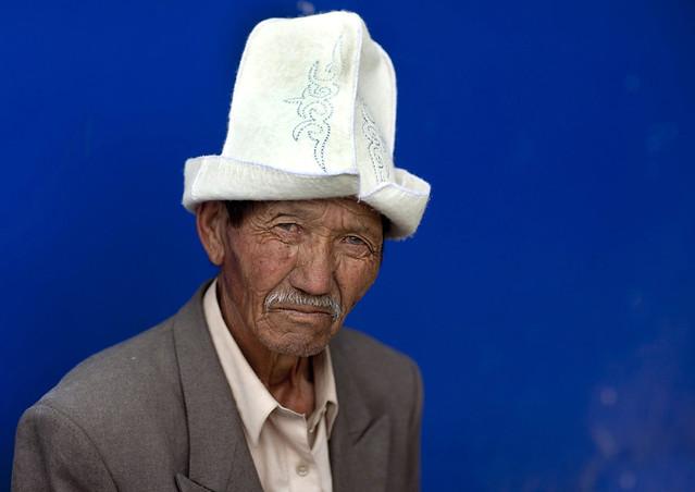 Old Man With Kalpak Hat, Kochkor, Kyrgyzstan