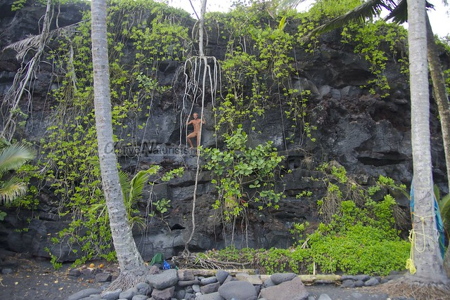 naturist 00 Kehena black sand beach, Hawaii, USA