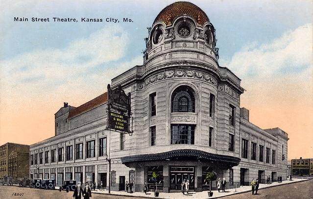 Main Street Theatre Kansas City Mo Postcard Flickr Photo Sharing