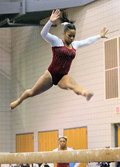 TWU Gymnastics Beam - Rashonda Cannie