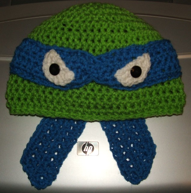Free Crochet Pattern Turtle Hat : LEONARDO teenage mutant ninja turtle hat - Flickr ...