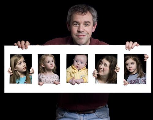 Composite family portrait