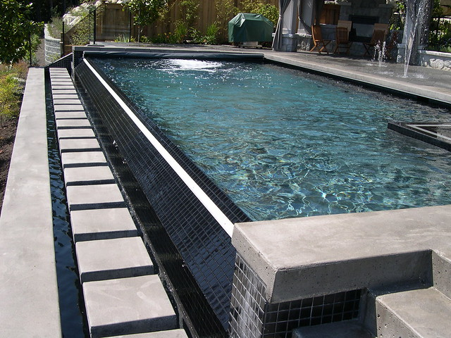 Infinity Edge Pool With Coverstar Automatic Pool And Spa
