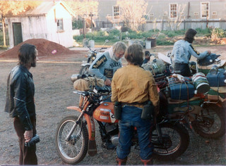 Preparation Work on the Bikes in Wiluna - 1974