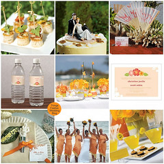Orange & Yellow wedding theme