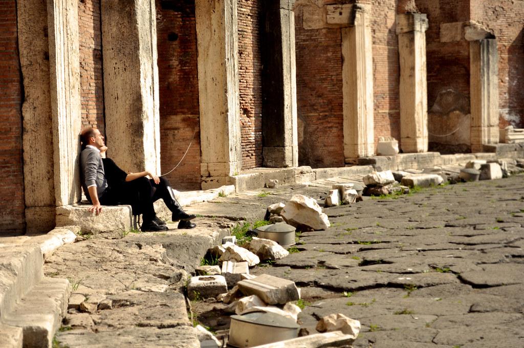 Un merecido descanso en los Mercados de Trajano
