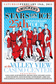 Limited Edition Smucker's Stars On Ice Poster Art