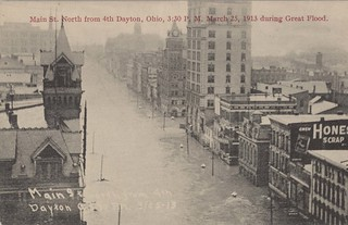 Main Street North from Fourth, Dayton, OH - 1913 Flood