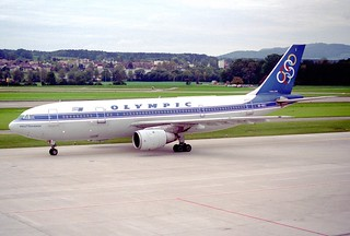 Olympic Airways Airbus A300B4-103; SX-BEI@ZRH;11.10.1997