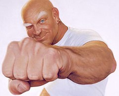 Punched by Mr. Clean by Neubie