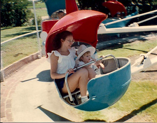 Haley Pargé (McCall) and mom, Donna Sue Pargé, at Wonderland, 1982