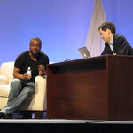 LeVar Burton and David Pogue at Macworld 2010