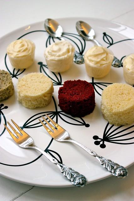 Wedding Cake Tasting Plate