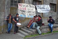 智利人抗議在奇洛埃島上興建大型風力發電廠。(Elsa Cabrera / 攝影)