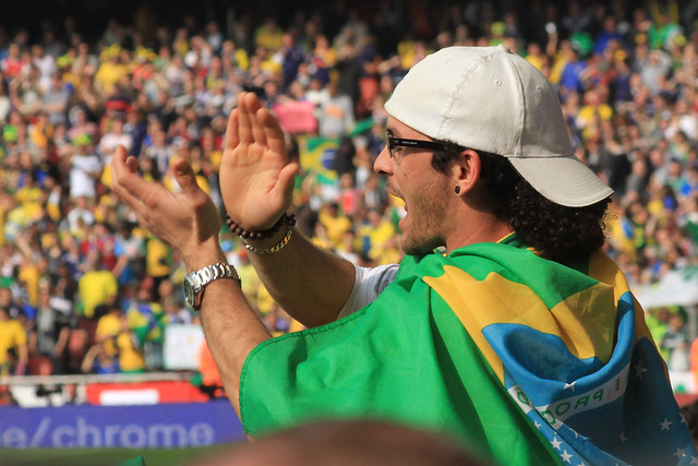 Cheering for Brazill - Flickr CC Ronnie MacDonald