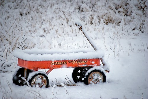 Big Flakes and a Lil' Red Wagon