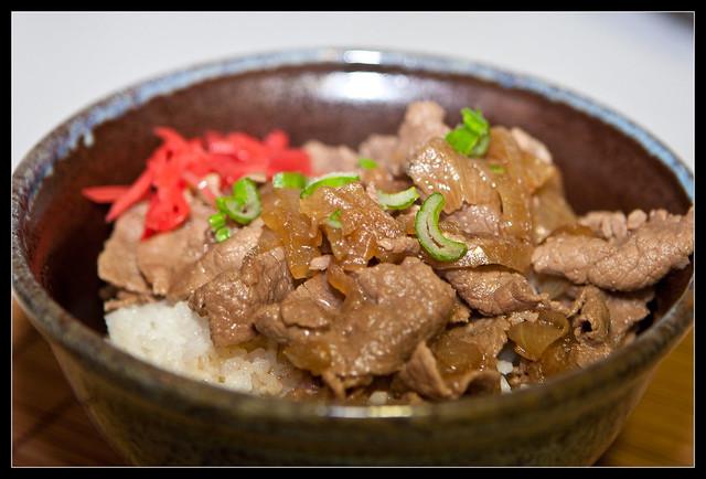 receta de gyudon
