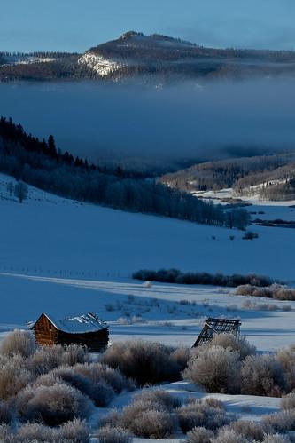 winter mountains sunrise ruins colorado winterpark rockymountains homestead grandcounty