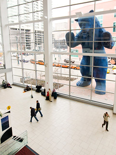 Nick and Amy visit the Big Blue Bear