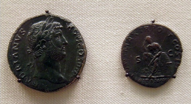 Sestertius and As of Hadrian, Roman Britain, British Museum