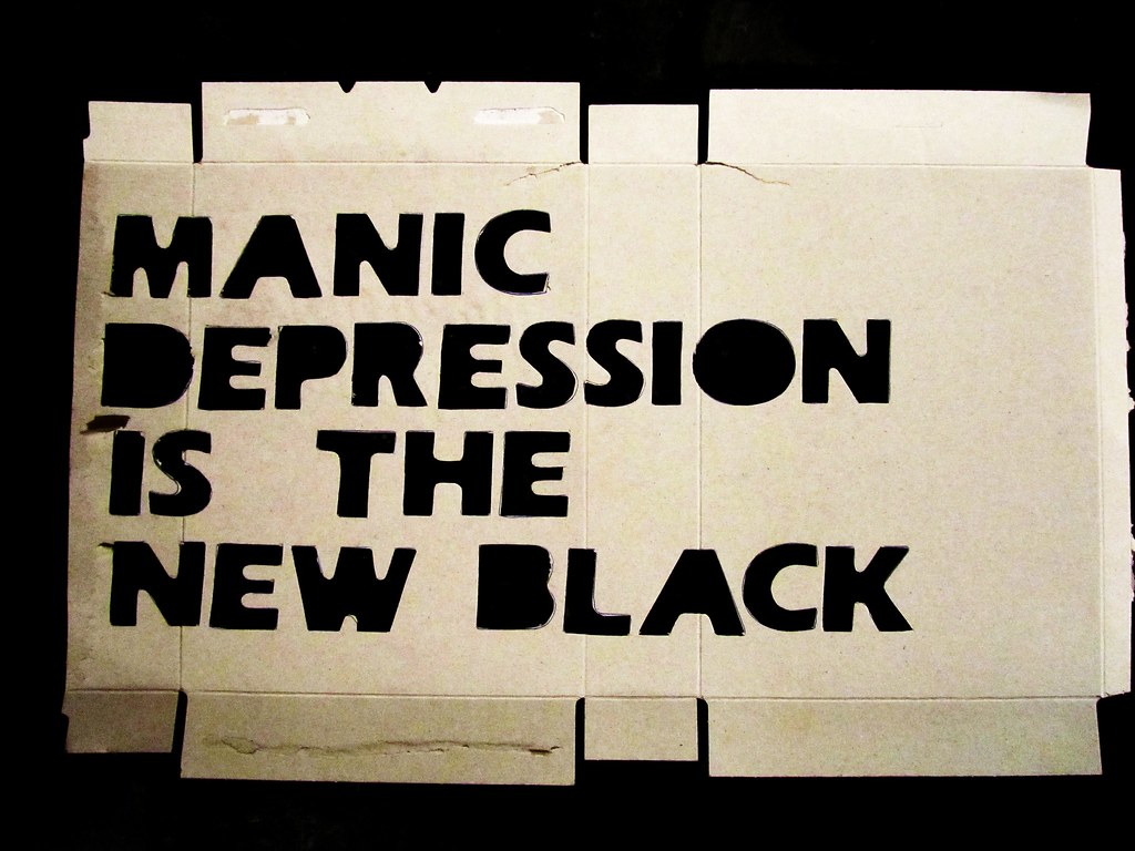 manic depression is the new black / stencil