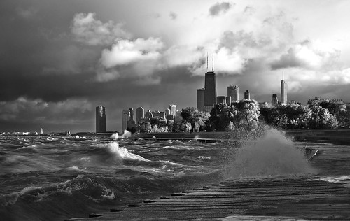 Stormy Lake Michigan