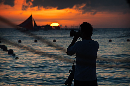 Capturing Bora Sunset