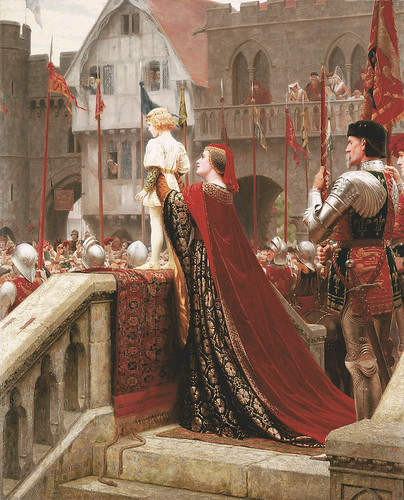 "Edmund Blair Leighton (1853-1922), ""A little prince likely in time to bless a royal throne"""