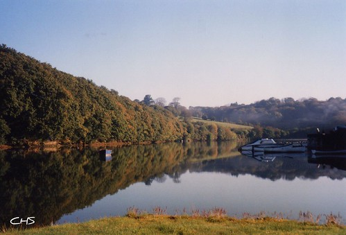 Cowland Creek (Coombe Creek), River Fal, Autumn 1997 by Stocker Images