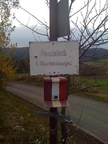 Fernblick-Wanderstempel