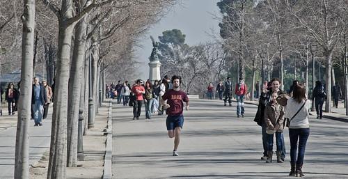 Corriendo en el retiro