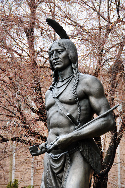 Massasoit Native American Chief statue byu campus 2