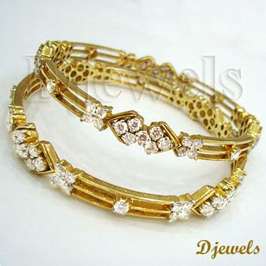 Diamond Gold Bangles