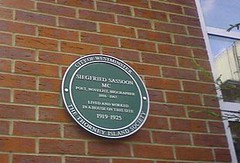 Photo of Siegfried Sassoon green plaque