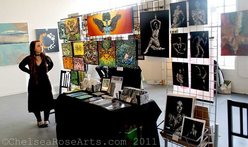 SE Area Art walk PDX set up