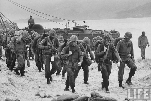 US Marines landing in Da Nang. 1965