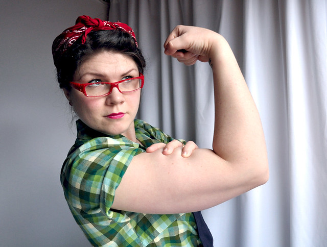 semi mohawk hairstyle : Rosie the riveter-style Flickr - Photo Sharing!